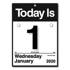 Today Is Wall Calendar, 6 5/8 x 9 1/8, White, 2020