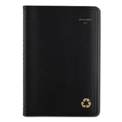 Recycled Weekly/Monthly Appointment Book, 8 x 4 7/8, Black, 2020