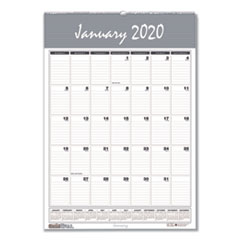 Recycled Bar Harbor Wirebound Monthly Wall Calendar, 15 1/2 x 22, 2020