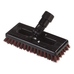 "Swivel Scrub Brush, DuPont Tynex A Bristles, 8"" Block, Rust, Dozen"
