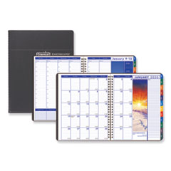 Recycled Earthscapes Weekly/Monthly Planner, 11 x 8 1/2, Black, 2020