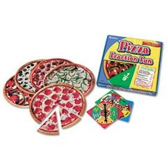 Pizza Fraction Fun Math Game, for Grades 1 and Up