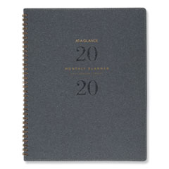Signature Collection Heather Gray Planner, 11 x 8 3/4, 2020-2021