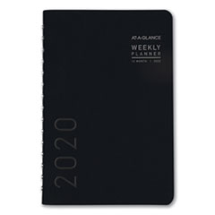 Contemporary Weekly/Monthly Planner, Block, 8 x 4 7/8, Black Cover, 2020