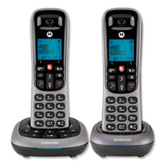 MTRCD400 Series Digital Cordless Telephone with Answering Machine, 2 Handsets