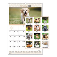 Puppies Monthly Wall Calendar, 15 1/2 x 22 3/4, 2020