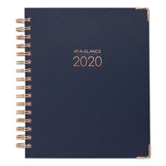 Harmony Weekly Monthly Hardcover Planners, 9 x 7, Navy, 2020
