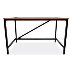 Industrial Series Table Desk, 47.25w x 23.63d x 29.5h, Modern Walnut