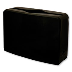 "1Countertop Folded Towel Dispenser, 10.63"" x 7.28"" x 4.53"", Black"