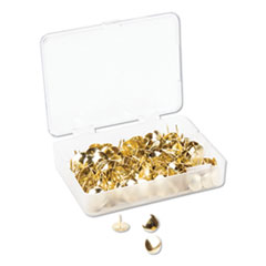 "Fashion Metal Thumbtacks, Metal, Gold, 3/8"", 200/Pack"