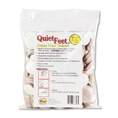 "Quiet Feet Deluxe Noise Reducers, 1 1/4"" dia, Circular, Beige, 100/Pack"