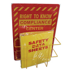 Deluxe Reversible Right-To-Know\Understand SDS Center, 14.5w x 5.2d x 21h, Red/Yellow