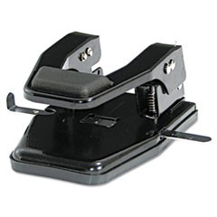 "140-Sheet Heavy-Duty Two-Hole Punch, 9/32"" Holes, Padded Handle, Black"
