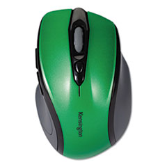 Pro Fit Mid-Size Wireless Mouse, 2.4 GHz Frequency/30 ft Wireless Range, Right Hand Use, Emerald Green