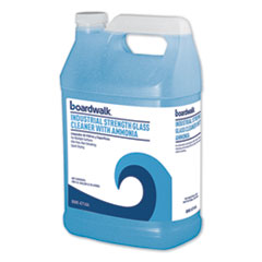 Industrial Strength Glass Cleaner with Ammonia, 1 gal Bottle