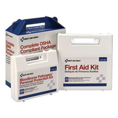 First Aid Kit for 50 People, 229-Pieces, ANSI/OSHA Compliant, Plastic Case