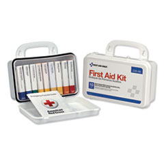 1ANSI-Compliant First Aid Kit, 64 Pieces, Plastic Case