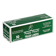 "Heavy Duty Trash Liners, 13 gal, 1.5 mil, 27.5"" x 29"", Black, 50/Box"
