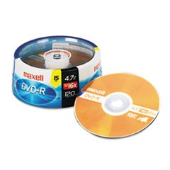 1DVD-R Discs, 4.7GB, 16x, Spindle, Gold, 15/Pack