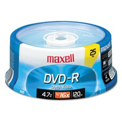 1DVD-R Discs, 4.7GB, 16x, Spindle, Gold, 25/Pack