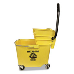 Side-Press Squeeze Wringer/Plastic Bucket Combo, 12 to 32 oz, Yellow