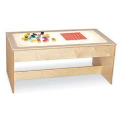 Large Light Table, 42.5w x 22.5d x 18.5h, White