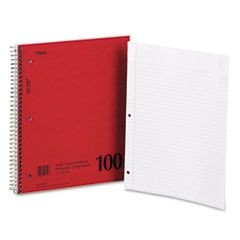 DuraPress Cover Notebook, College Rule, 8 1/2 x 11, White, 100 Sheets