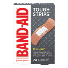 "Flexible Fabric Adhesive Tough Strip Bandages, 1"" x 3.25"", 20/Box"