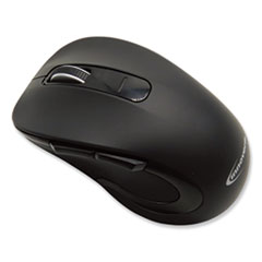 Mid-Size Wireless Optical Mouse with Micro USB, 2.4 GHz Frequency/32 ft Wireless Range, Right Hand Use, Black
