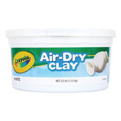 1Air-Dry Clay, White, 2 1/2 lbs