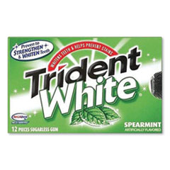 Sugar-Free Gum, White Spearmint, 16 Sticks/Pack, 9 Packs/Box
