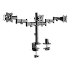 "AdaptivErgo Pole-Mount Triple Arm for 27"" Monitors, 360 deg Rotation, +45/-45 deg Tilt, 45 deg Pan, Black, Supports 17.6 lb"