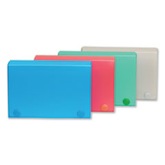 1Index Card Case, Holds 100 3 x 5 Cards, Polypropylene, Assorted Colors