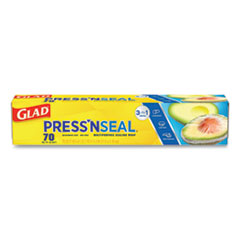 Press'n Seal Food Plastic Wrap, 70 Square Foot Roll, 12/Carton