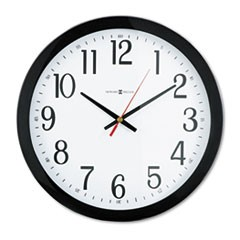 "Gallery Wall Clock, 16"" Overall Diameter, Black Case, 1 AA (sold separately)"