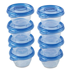 Mini Round Food Storage Containers, 4 oz,  8/Pack, 12 Packs/Carton