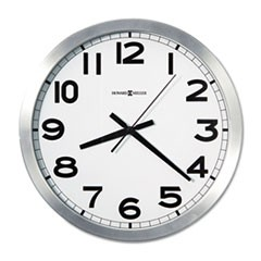 "1Spokane Wall Clock, 15.75"" Overall Diameter, Silver Case, 1 AA (sold separately)"