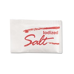 Salt Packets, 0.75 grams, 3,000/Carton