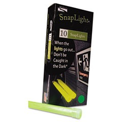"Snaplights, 6""l x 3/4""w, Green, 10/Box"