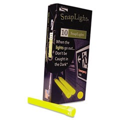 "Snaplights, 6""l x 3/4""w, Yellow, 10/Box"