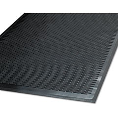 Clean Step Outdoor Rubber Scraper Mat, Polypropylene, 48 x 72, Black