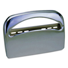 Metal 1/2 Fold Toilet Seat Cover Dispenser, 16.35 x 2.45 x 11.55, Chrome