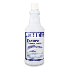 Secure Hydrochloric Acid Bowl Cleaner, Mint Scent, 32oz Bottle, 12/Carton