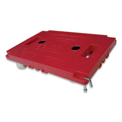 "Mule Dollies, 500 lb Capacity, 17.75"" x 12.75"" x 3.375"", Red, 2/Pack"