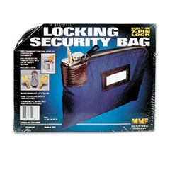Seven-Pin Security/Night Deposit Bag w/2 Keys, Nylon, 8 1/2 x 11, Navy