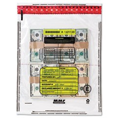 4 Bundle Capacity Tamper-Evident Cash Bags, 15 x 20, Clear, 250 Bags/Box