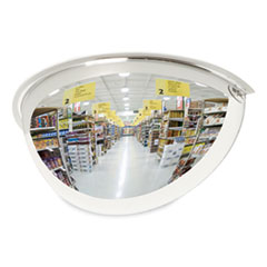 "Half-Dome Convex Security Mirror, 18"" Diameter"