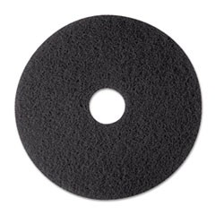 "Low-Speed Stripper Floor Pad 7200, 12"" Diameter, Black, 5/Carton"
