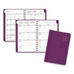 Contemporary Weekly/Monthly Planner, 8.5 x 5.5, Purple, 2021