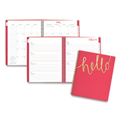 Aspire Weekly/Monthly Planner, 11 x 8.5, Coral, 2021